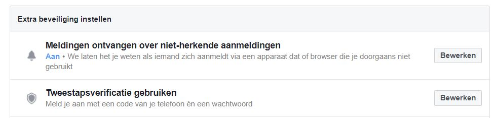facebookbeveiliging